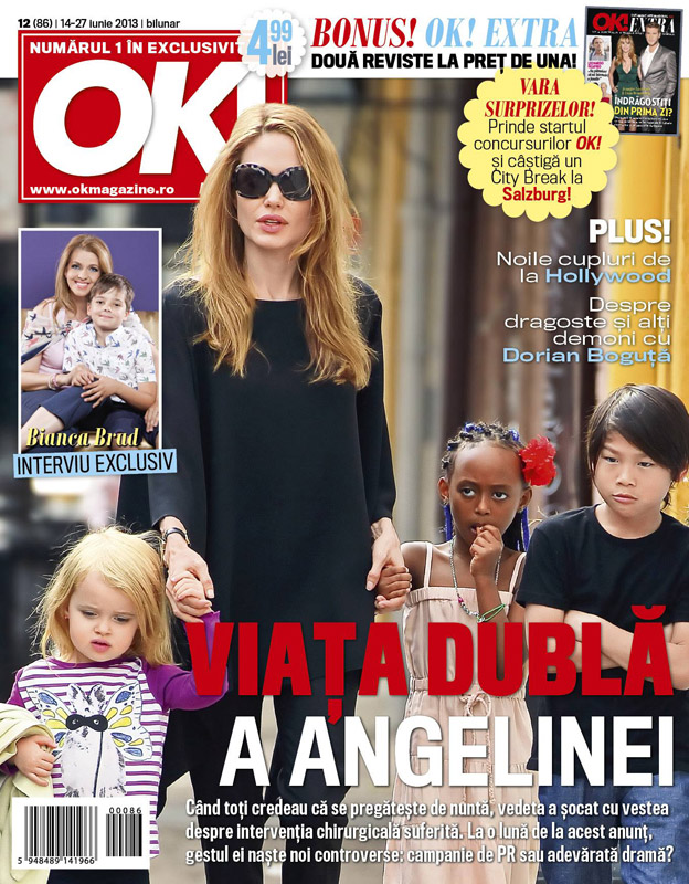 Ok! Magazine Romania ~~  Coperta: Angelina Jolie ~~ 14 Iunie 2013