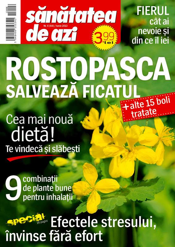 Santatea de azi ~~ Cover story: Rostopasca salveaza ficatul ~~ Iunie 2013