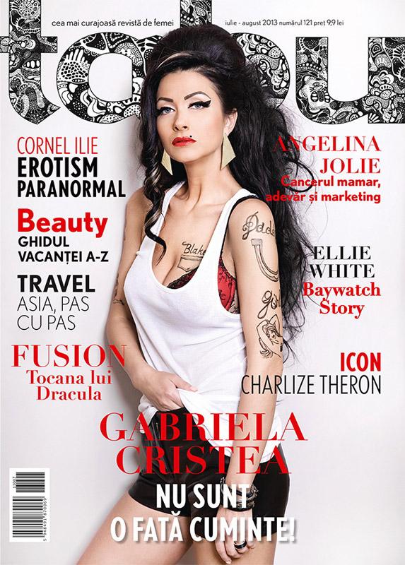 Revista TABU ~~ Coperta: Gabriela Cristea ~~ Iulie - August 2013