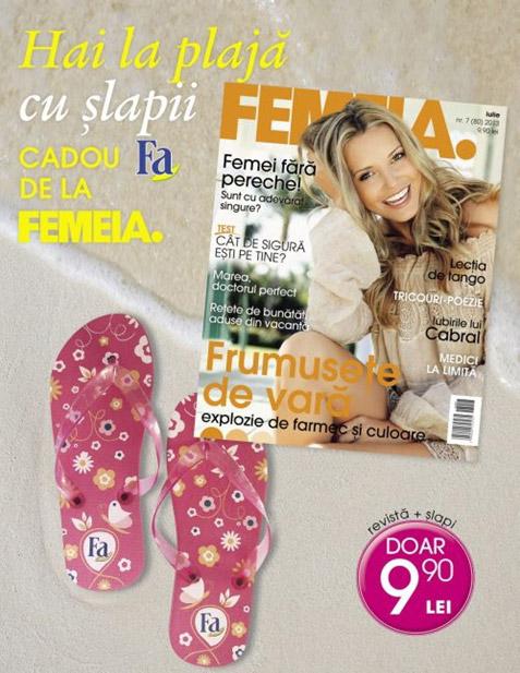 Promo pentru revista FEMEIA., editia Iulie 2013