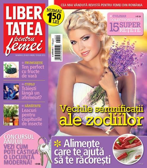 Revista Libertatea pentru femei ~~ Vechile semnificatii ale zodiilor ~~ 19 Iulie 2013