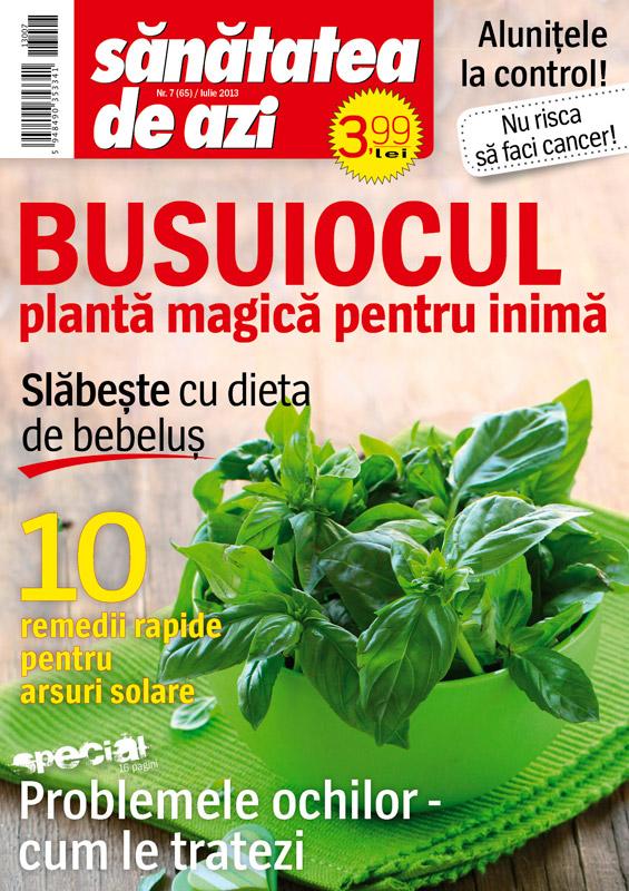Revista Sanatatea de azi ~~ Busuiocul, planta magica pentru inima ~~ Iulie 2013