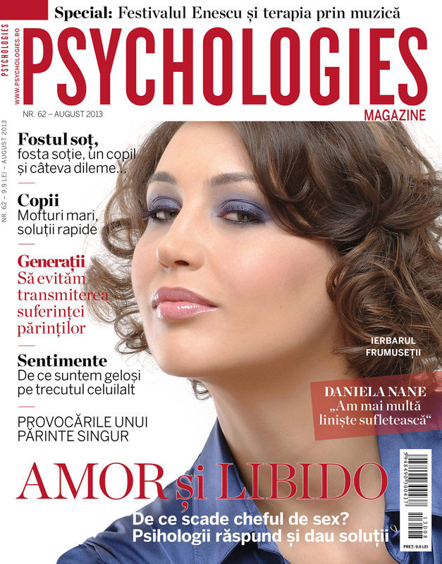 Psychologies Magazine Romania ~~ Coperta: Daniela Nane ~~ August 2013
