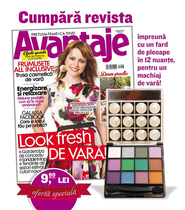 Promo pentru revista Avantaje, ultimul numar August 2013