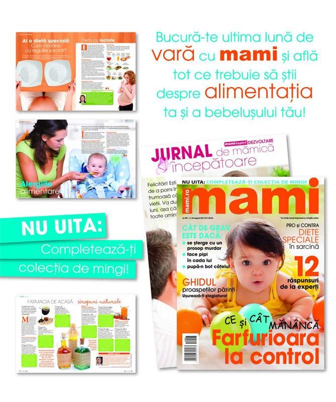 Promo pentru revista MAMI, August 2013