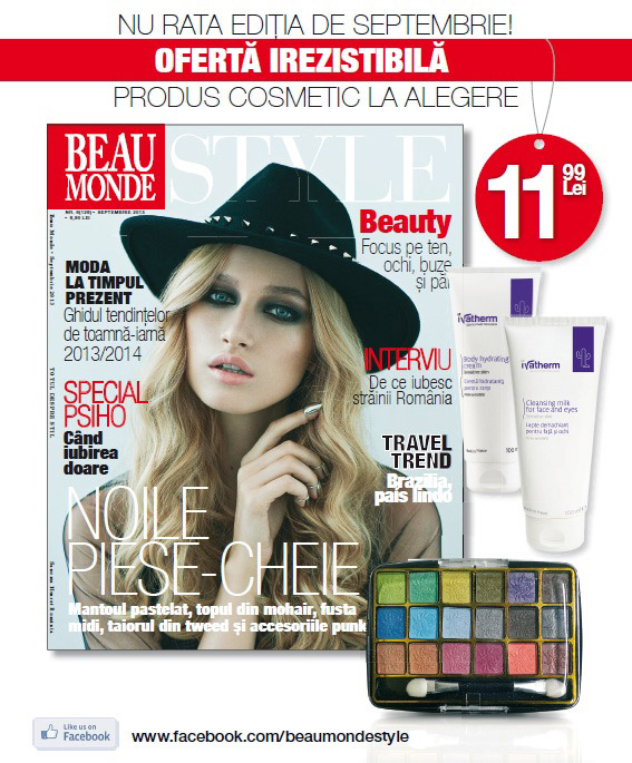 Promo pentru revista Beau Monde Style, editia Septembrie 2013
