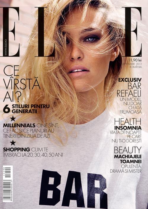 ELLE Romania ~~ Cover girl : Bar Refaeli ~~ Septembrie 2013