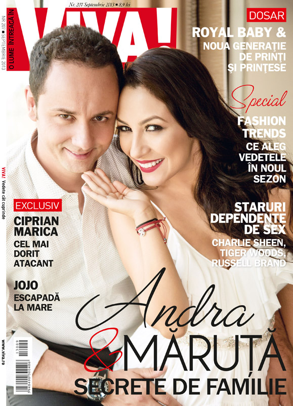 Revista VIVA! Romania ~~ Coperta: Andra si Catalin Maruta ~~ Septembrie 2013
