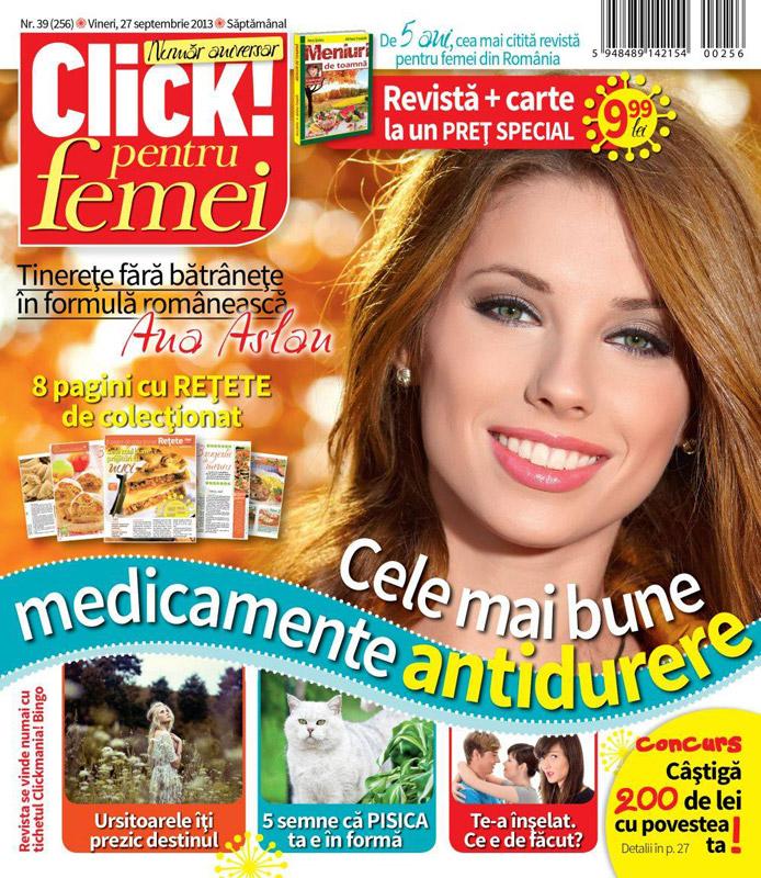 Click pentru femei ~~ Tinerete fara batranete in formula romaneasca ~~ 27 Octombrie 2013