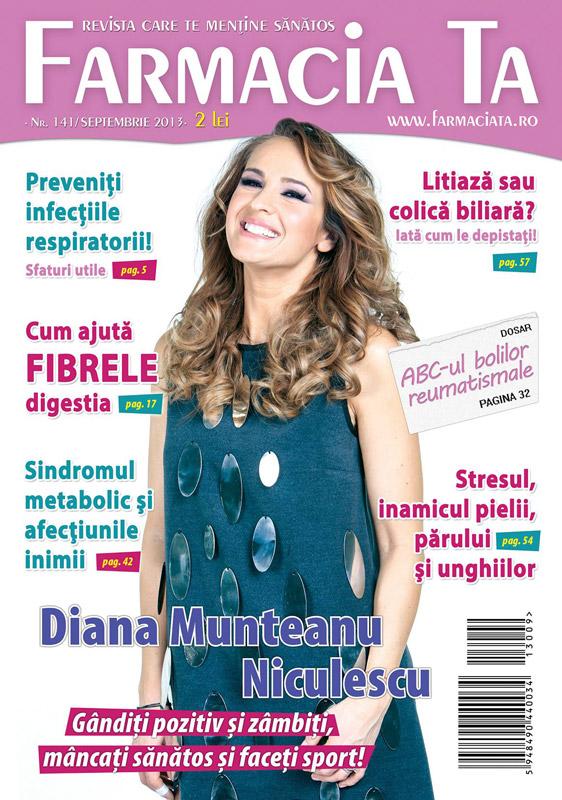 Revista Farmacia ta ~~ Coperta: Diana Munteanu-Niculescu ~~ Septembrie 2013