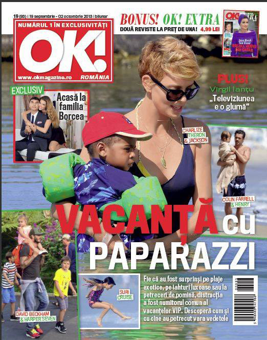 OK! Magazine ~~ Cover girl: Charlize Theron ~~ 19 Septembrie 2013