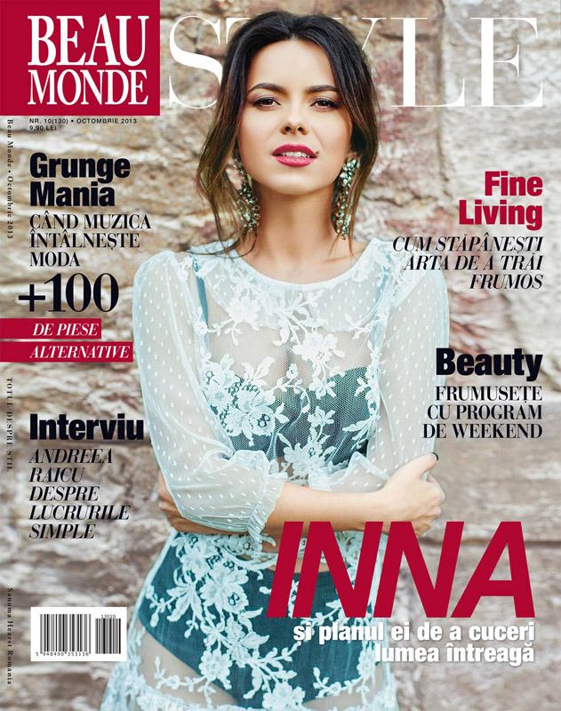 Beau Monde Style ~~ Coperta: Inna ~~ Octombrie 2013