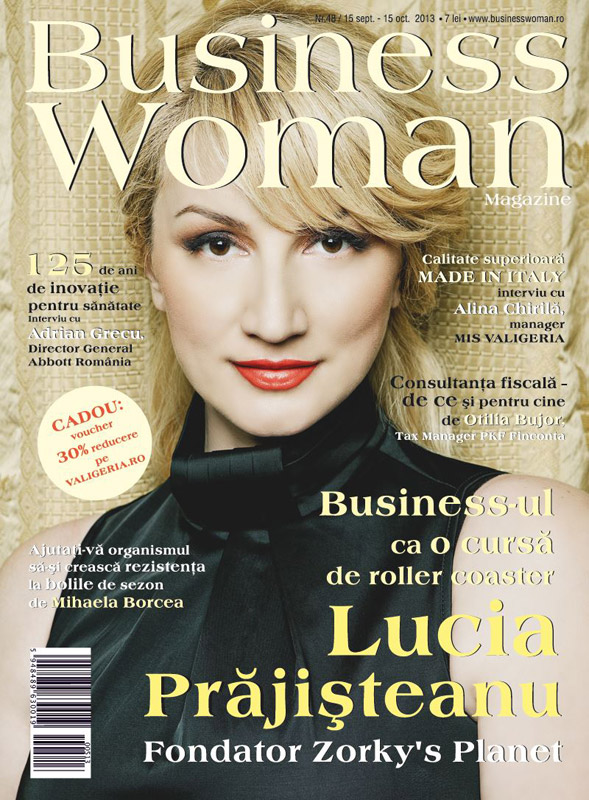 Business Woman Magazine ~~ Coperta : Lucia Prajisteanu ~~ Octombrie 2013