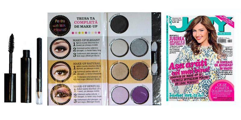 Trusa de machiaj pentru smoky eyes, cadoul revistei JOY, editia Octombrie 2013 ~~ Pret: 10 lei