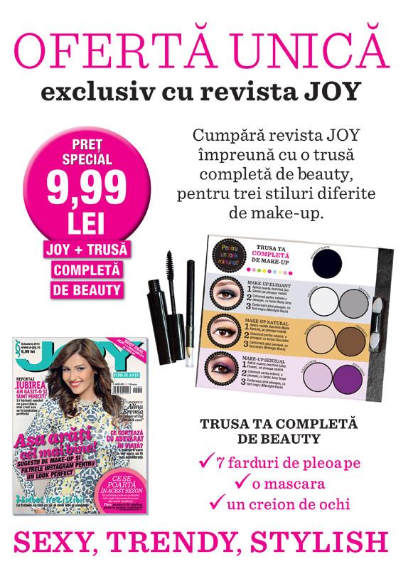 Promo pentru revista JOY Romania, editia Octombrie 2013