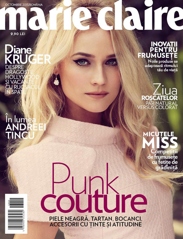 Marie Claire Romania ~~ Covergirl: Diane Kruger ~~ Octombrie 2013
