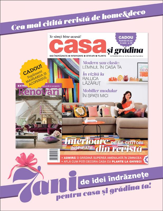 Revista Casa si gradina, editia Octombrie 2013 ~~ Numar aniversar 7 ani