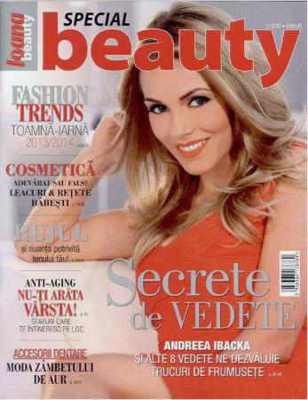 Revista Ioana Beauty ~~ Coperta: Andreea Ibacka ~~ nr. 3/2013