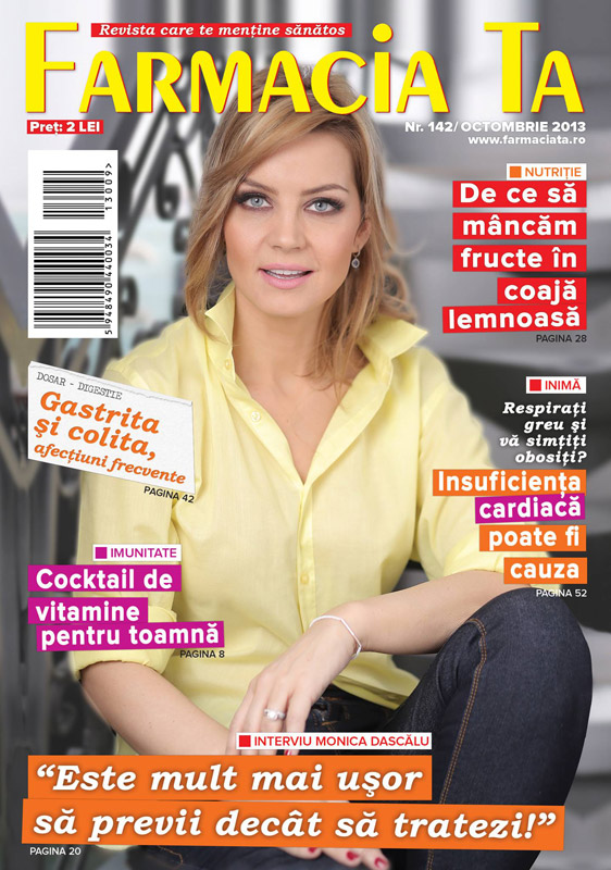 Farmacia ta ~~ Coperta: Monica Dascalu ~~ Octombrie 2013