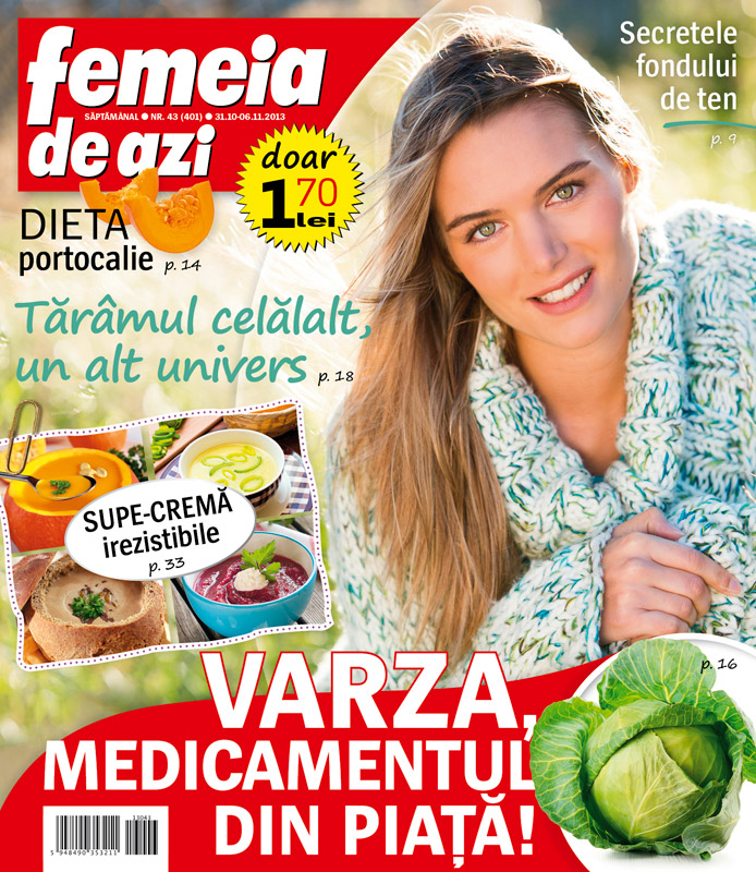 Femeia de azi ~~ Varza, medicamentul din piata! ~~ 31 Octombrie 2013