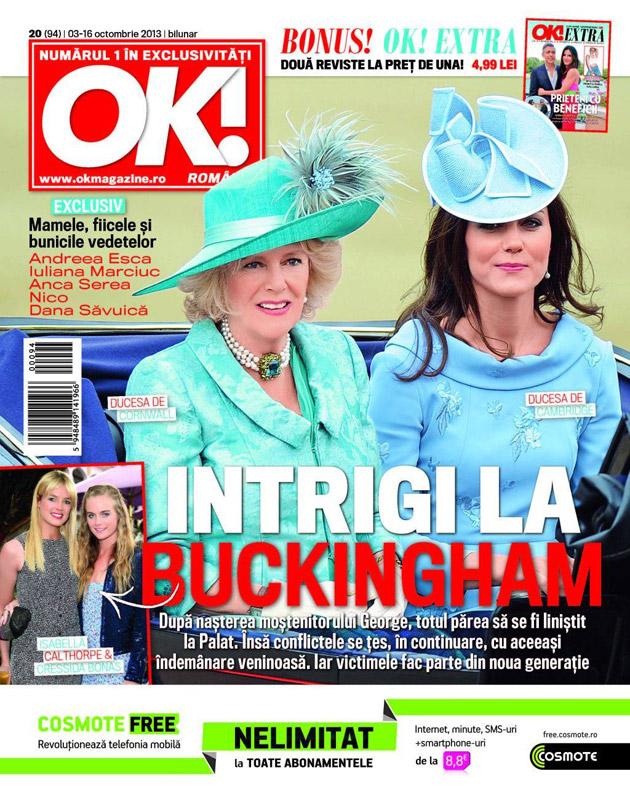 Revista OK! Magazine ~~ Intrigi la Buckingham ~~ 3 Octombrie 2013