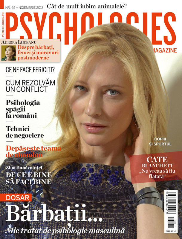 Psychologies Romania ~~ Cover girl: Cate Blanchett ~~ Noiembrie 2013