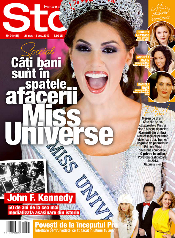 Story Romania ~~ Cover story: Cati bani sunt in spatele afacerii Miss Universe ~~ 21 Noiembrie 2013