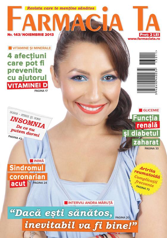 Revista FARMACIA TA  ~~ Coperta: Andra Maruta ~~ Noiembrie 2013