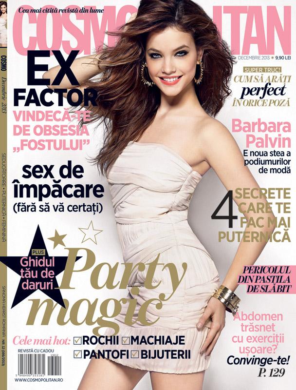 Cosmopolitan Romania ~~ Coperta: Barbara Palvin ~~ Decembrie 2013