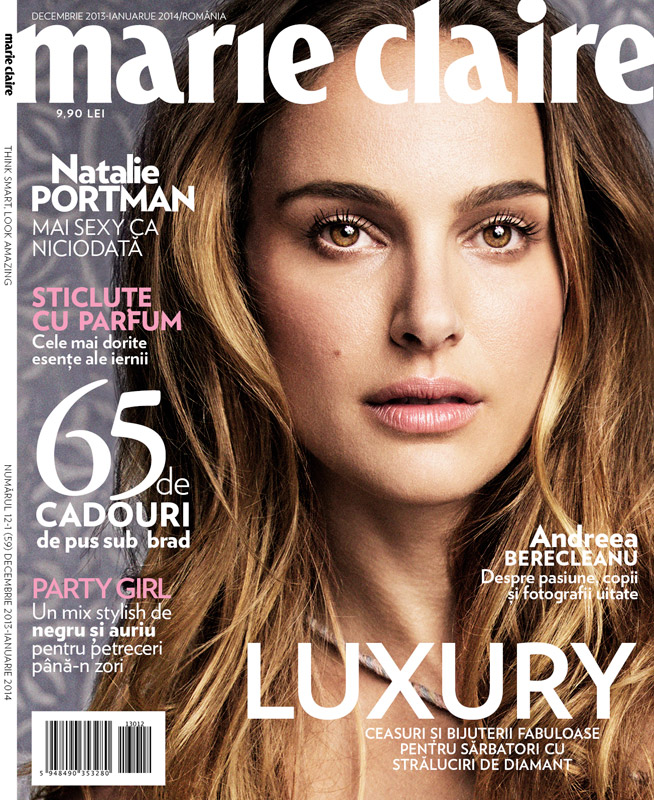 Marie Claire Romania ~~ Cover girl: Natalie Portman ~~ Decembrie 2013 - Ianuarie 2014