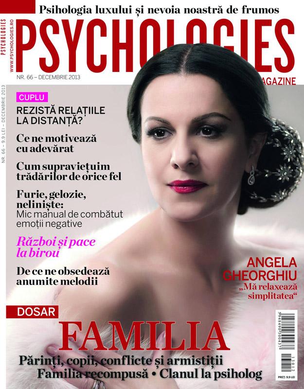 Psychologies Romania ~~ Coperta: Angela Gheorghiu ~~ Decembrie 2013