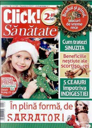Click Sanatate ~~ Beneficiile nestiute ale scortisoarei ~~ Decembrie 2013