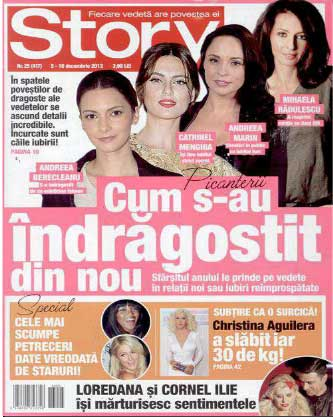 Revista Story ~~ Cum s-au indragostit din nou ~~ 5 Decembrie 2013