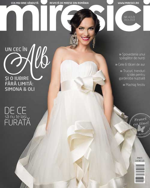 Revista Miresici ~~ Un cec in alb si o iubire fara limita: Simona si Oli ~~ numarul 4/2013-2014