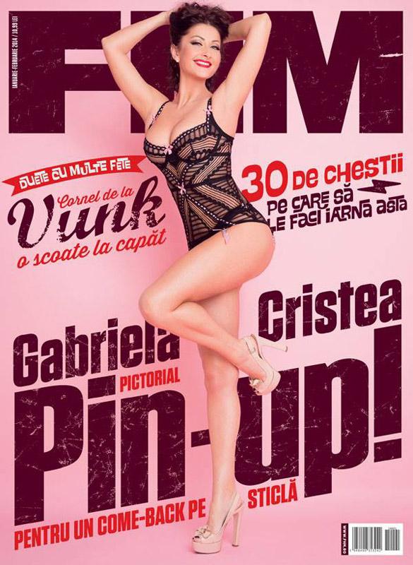 FHM Romania ~~ Coperta: Gabriela Cristea ~~ Ianuarie-Februarie 2014