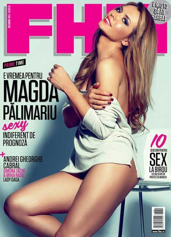 FHM Romania ~~ Coperta: Magda Palimariu ~~ Decembrie 2013