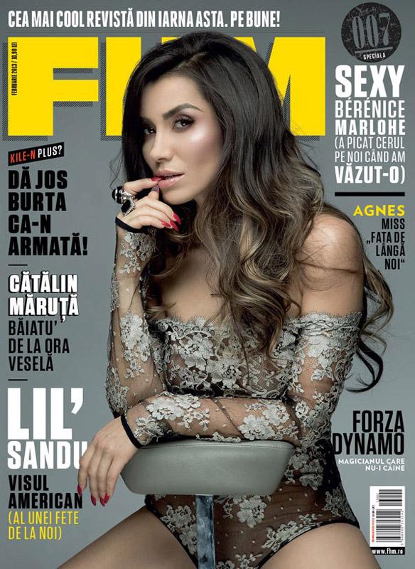 FHM Romania ~~ Coperta: Lili Sandu ~~ Februarie 2013 ~~ Pret: 10,90 lei