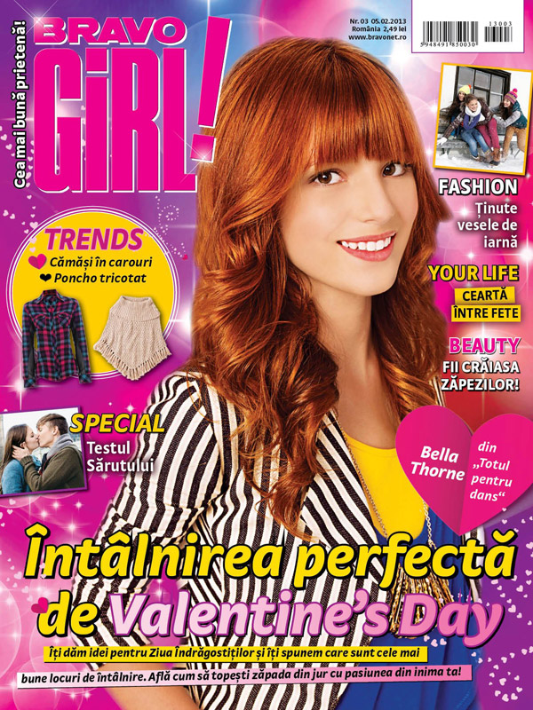 Revista BRAVO GIRL! ~~ Cover girl: Bella Thorne ~~ 5 Februarie 2013 ...