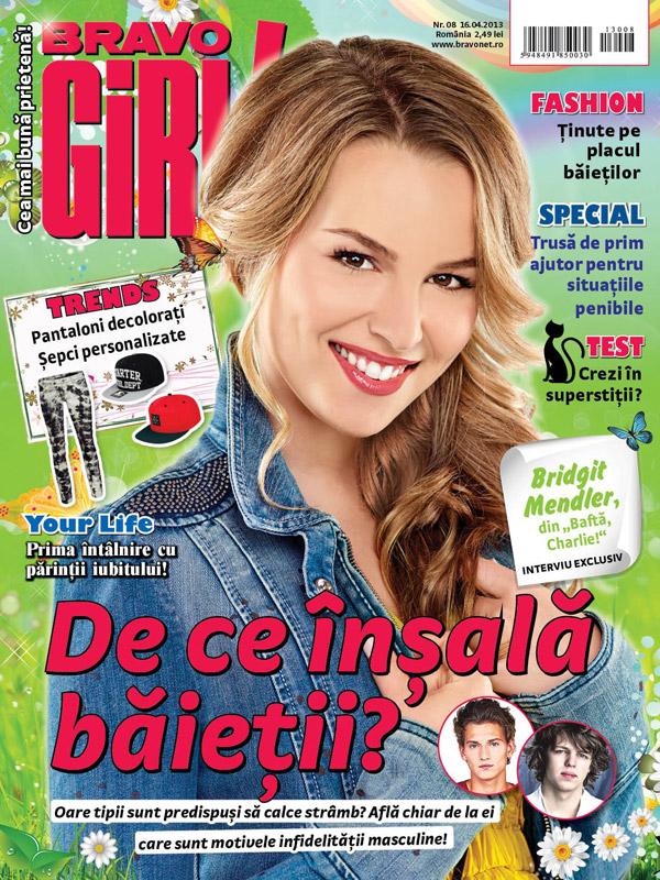 BRAVO GIRL! ~~ Cover girl: Bridgit Mendler ~~ 16 Aprilie  2013