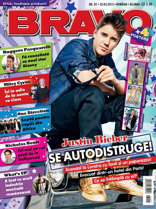 BRAVO ~~ Coperta: Justin Bieber ~~ Cadou: Vampirii din Morganville. Aleea Intunericului (volumul III – partea 1) ~~ 26 Martie 2013