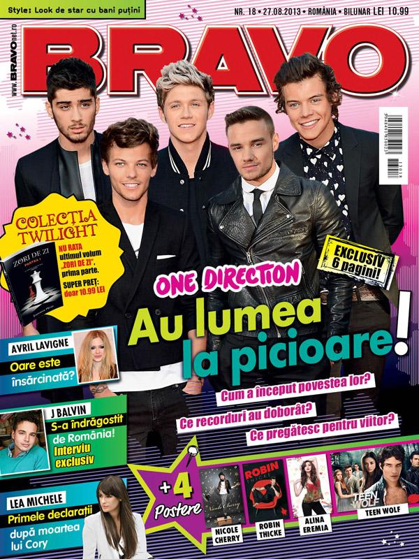 BRAVO ~~ Coperta: One Direction ~~ 27 August 2013