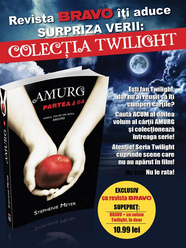 Promo pentru partea a doua din primul volum Amurg al seriei Twilight ~~ 18 Iunie 2013 ~~ Pret: 11 lei