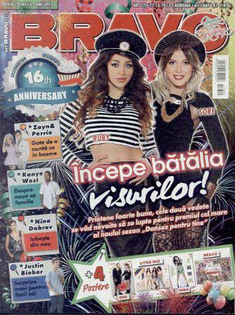 Revista BRAVO! ~~ Coperta: Ruby si Sore ~~ 22 Octombrie 2013