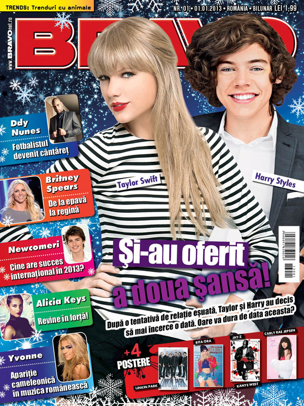 BRAVO ~~ Coperta: Taylor Swift si Harry Styles ~~ 1 Ianuarie 2013