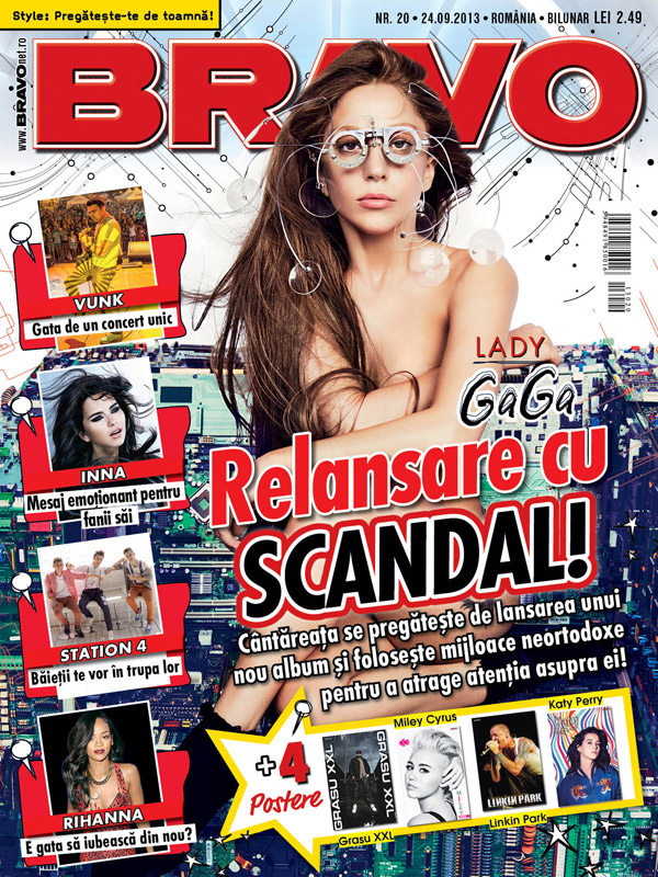 Revista BRAVO! ~~ Coperta: Lady Gaga ~~ 24 Septembrie 2013