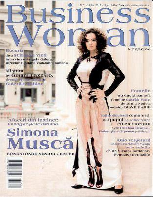 Business Woman Magazine ~~ Coperta: Simona Musca ~~ Ianuarie 2014