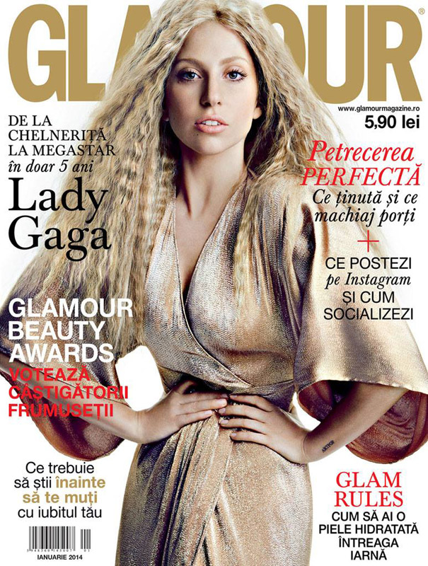 Glamour Romania ~~ Cover girl: Lady Gaga ~~ Ianuarie 2014