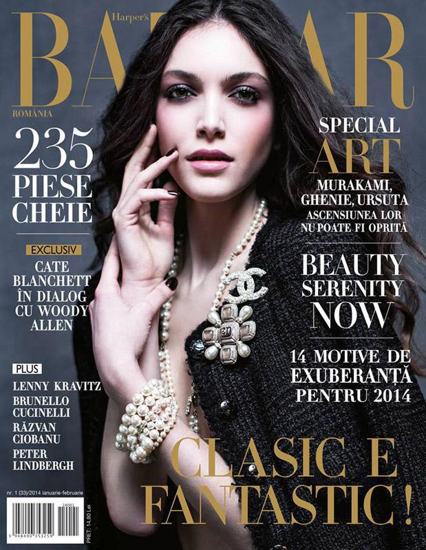 Harpers Bazaar Romania ~~ Clasic e fantastic! ~~ Ianuarie-Februarie 2014