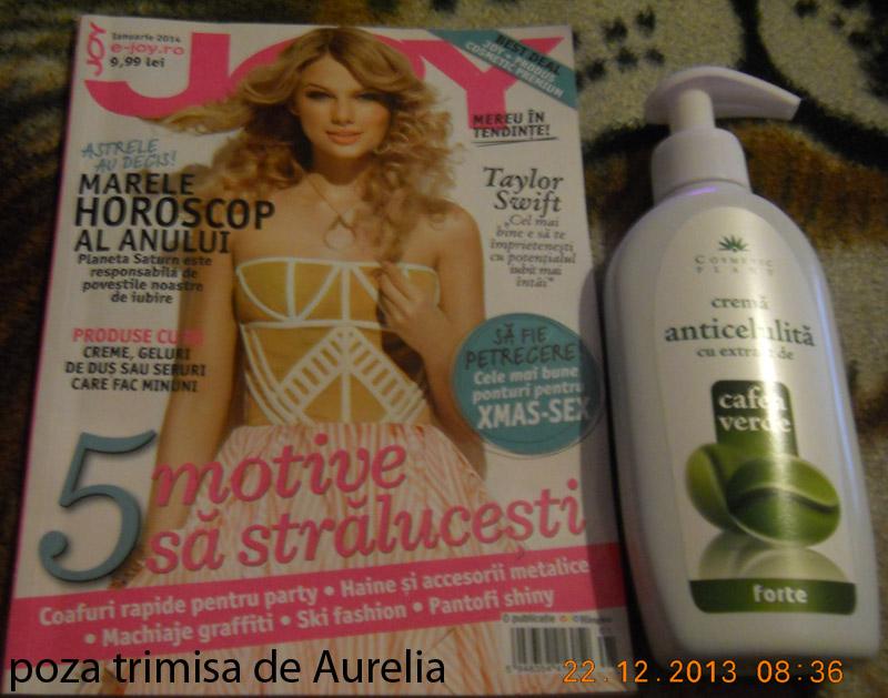 Revista JOY si cadoul crema anticelulitica Cosmetic Plant ~~ Pret pachet: 10 lei ~~ Ianuarie 2014
