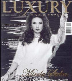 Luxury Magazine ~~ Coperta: Mirela Stelea ~~ Ianuarie 2014